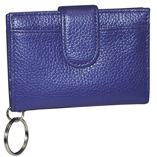Buxton Hudson Pik-Me-Up Tab Card Case, Mulberry