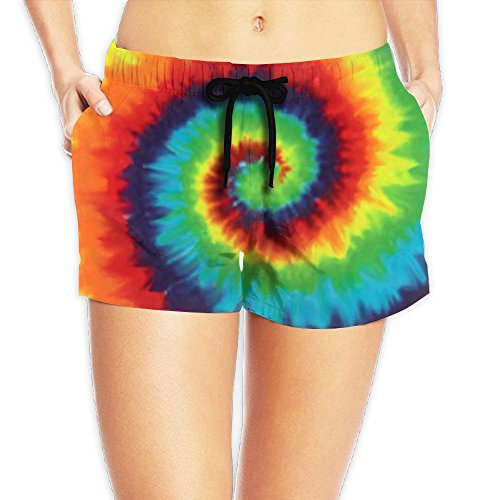 Colored Tie Dye Rainbow Lady Adult 3D Digital Printed Casual Fashion Polyester Shorts Elastic Sweat Pants (Single Colored M&ms)
