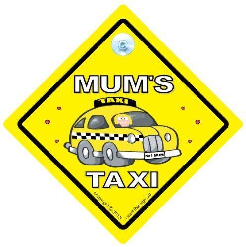 Placa con mensaje para mamá es Taxi de coche con texto en ...