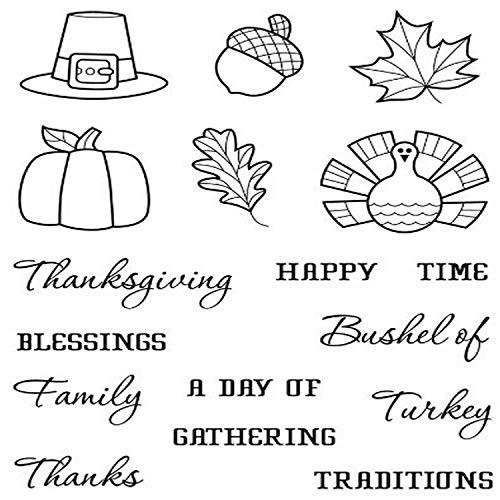 Karen Foster Design, Clear Stamp Set, Thanksgiving