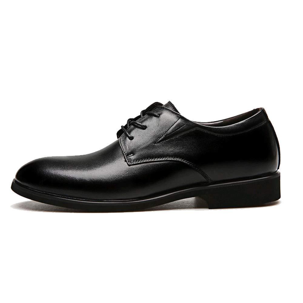 Mann Mann Mann Leder beiläufiges Geschäft Rutschfest Wear resistent schwarz 11954d