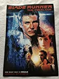 "BLADE RUNNER Original Promo Movie Poster 9""x13"" IMAX Harrison Ford One Night Event"
