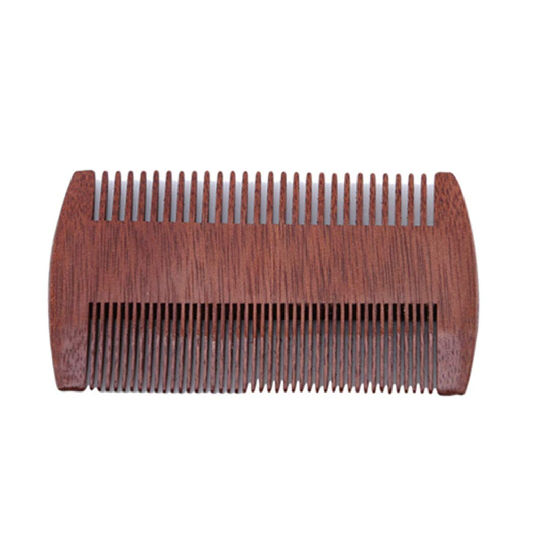 LZIYAN Densities Teeth Wooden Hair Comb Anti-Static Double Tooth Comb Portable Straight Hair Comb For Men And Women