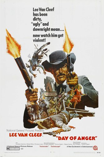 Day Of Anger spaghetti western Movie poster lee Van Cleef reproduction, not an original
