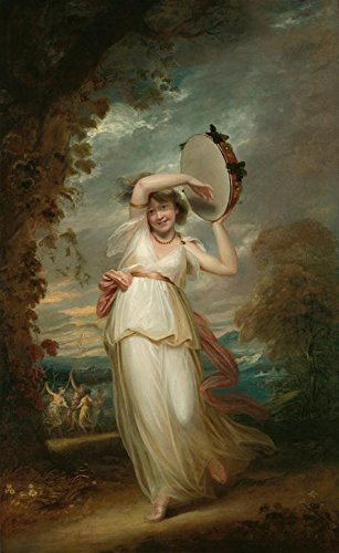Oil Painting 'John Hoppner,Portrait Of Emily St,1758-1810' Printing On High Quality Polyster Canvas , 24x39 Inch / 61x99 Cm ,the Best Bathroom Decoration And Home Decoration And Gifts Is This Reproductions Art Decorative Canvas Prints