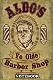"""Notebook: Aldo Raines Barber Shop , Journal for Writing, College Ruled Size 6"""" x 9"""", 110 Pages"""