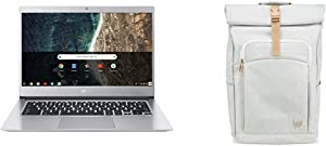 "Acer Chromebook 514, CB514-1HT-C7AZ, Intel Celeron N3450, 14"" Full HD Touch Display with Acer Predator Rolltop Jr. Smoky White Backpack"