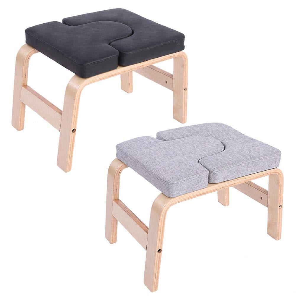 Panchina Yoga Panca Per Yoga Panca Yoga Headstand Stand Yoga Chair,Cuscinetti In Legno E PU,Sport Esercizio Panca Attrezzature Per Il Fitness Per Palestra Di Famiglia Allevia La Fatica 37x57x35cm