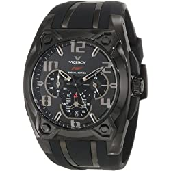 Viceroy Men's 47617-55 Black IP Chronograph Rubber Watch