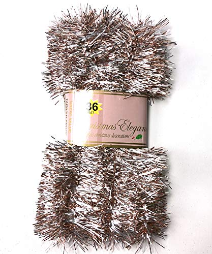 Christmas Elegance 36 FT Christmas Garland Classic Christmas Decorations, Rose Gold/Silver