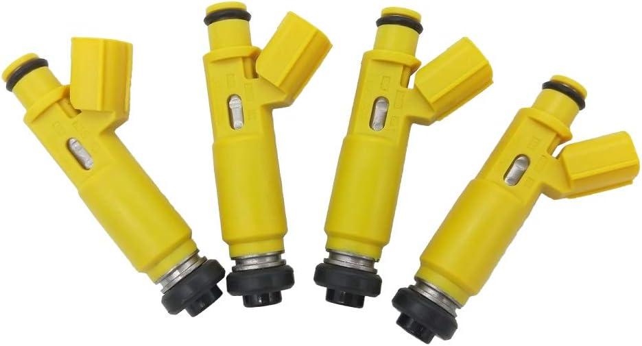 JESBEN 23209-28050 FJ639 4pcs Set Fuel Injectors 12 Holes Nozzles Replacement for 2001-2003 Toyota RAV4 2.0L 23250-28050