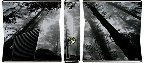 Scary Forrest Woods Shadows Xbox 360 Slim (2010) Vinyl Decal Sticker Skin by Moonlight Printing -