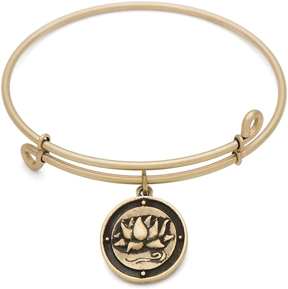 SOL 220013 Inner Peace Bangle Antique Gold Color Finish