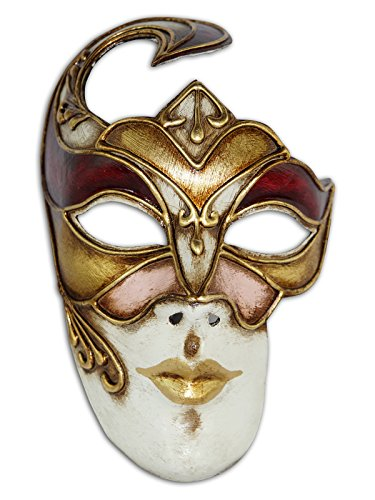 Voltes 5 Costume (Venetian Full Face Mask Volto Ann for Men and Women (gold))