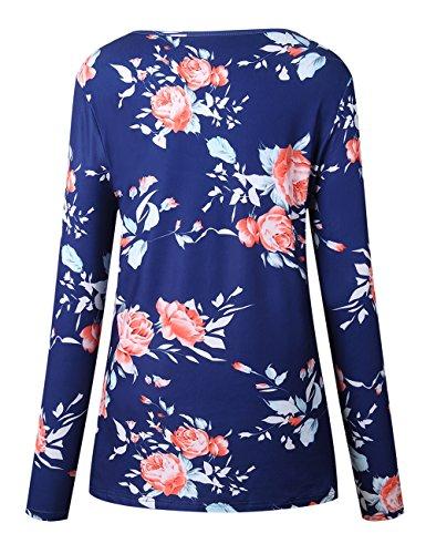 Walant-Womens-Floral-Printed-Long-Sleeve-Criss-Cross-V-Neck-Casual-Tops-T-Shirt