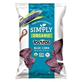 corn blue chips - Simply Organic Tostitos Blue Corn Tortilla Chips, 8.25 Ounce