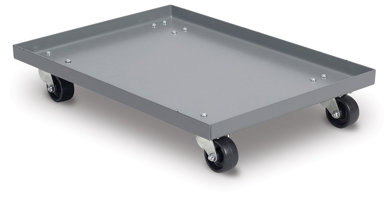 Akro-Mils RU843HR1420 Powder Coated Steel Panel Dolly for 39085, 39120, 39170 or 66486 Attached Lid Containers, Grey