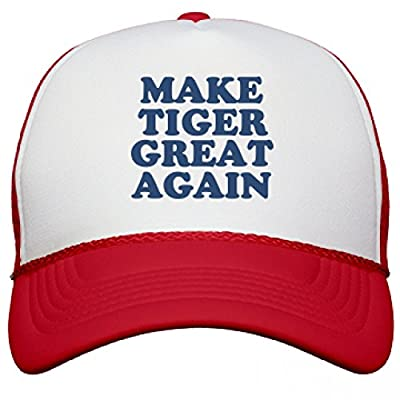 Make Tiger Great Again Hat: Snapback Mesh Trucker Hat