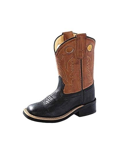 3ba04044fae Amazon.com  Old West Toddler-Boys  Corona Cowboy Boot Square Toe ...