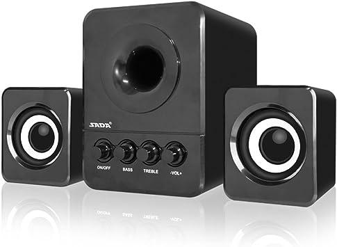 SADA Mini USB Wired Computer Speaker Surround Sound Music LED For Desktop Laptop