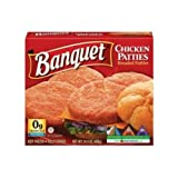 Conagra Banquet Original Boneless Chicken Patty, 14.4 Ounce - 12 per case.
