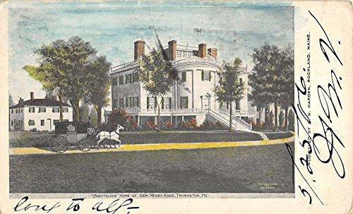 - Thomaston Maine Knox Home Montpelier Horse Carriage Antique Postcard K41345
