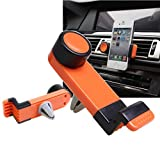 For Cell Phone,Lucoo® Universal Car Air Vent Mount Cradle Stand Holder Phone Cellphone GPS For iPhone (orange)