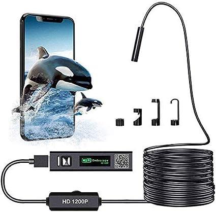 Wifi Endoskop Kabelloses Inspektionskamera Wifi Endoskopkamera 1200p Hd Wasserdichte 10m Halbsteife Kabel Boreskope Schlange Kamera Für Android Und Ios Smartphone Iphone Windows Auto