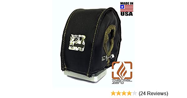 Amazon.com: Thermal Zero Black UNIVERSAL T4 Turbo Blanket Holds 2400 degrees. MADE IN USA unlike the rest. Fits most T4 turbochargers including Garrett, ...