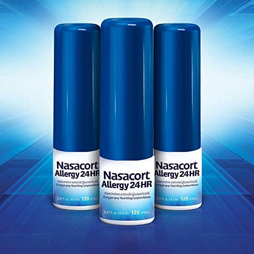 Nasacort Allergy 24hr, 2Pack (3 Bottles, 120 Sprays Each) Mk#$TDH by Nasacort
