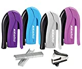 PaperPro inSHAPE15 Stapler - One Finger, No Effort, Spring Powered Stapler Value Pack with Staples & Remover - Assorted Colors, No Color Choice