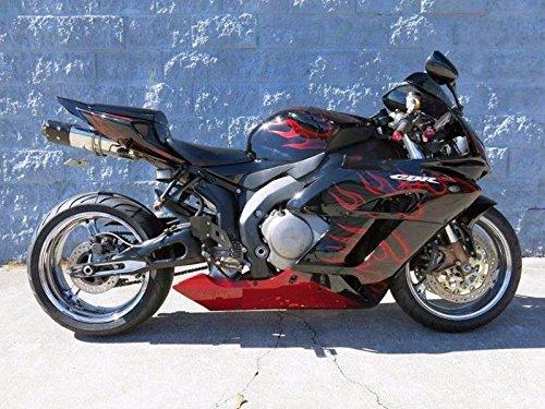 Black Red Fairing Bodywork Injection for 2004-2005 Honda CBR 1000 RR 1000RR ()