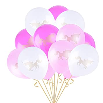 3eb14038638 Easy Joy Unicorn Balloons Assorted Colour Latex Balloons Kit 10inch 15pcs  for Unicorn Party Decorations Baby