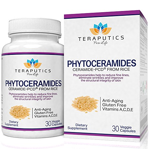 Multiple Women 90 Tab (Phytoceramides Ceramide-PCD Made From Rice - Clinically Proven Gluten Free Skincare Supplement, 40mg, 30 Veggie Caps + Getting Started)
