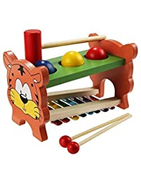 Arshiner 2 in 1 Wooden Pound and Tap Bench with Slide Out Xylophone Educational Development Music Toy for Kids BOBEBE Online Baby Store From New York to Miami and Los Angeles