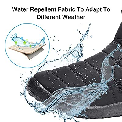 gracosy Warm Snow Boots Outdoor for Women Winter Fur Lining Shoes Anti-Slip Lightweight Ankle Bootie Waterproof Slip on Sneakers | Snow Boots