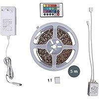 LED Stripes, Stripe, Lichterkette, Band, Streifen, LED Leiste, LED Lichtleiste, LED Bänder, Lichterkette LED, weiß, bunt, inkl. Fernbedienung, inkl. Farbwechsel, 5m selbstklebend