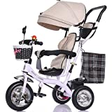Strollers Baby Multifunctional Child Tricycle Trolley 1-3 - 5 Years Old Bike Baby Bicycle Baby Car (Color : F)
