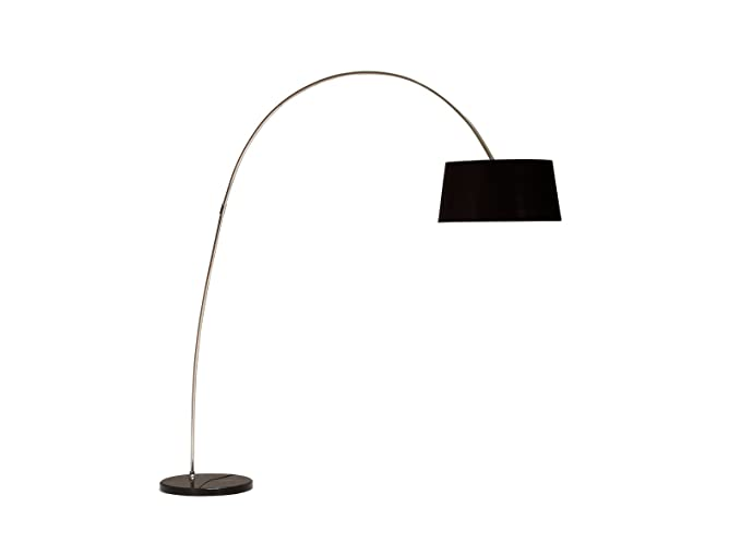 Invicta Interior Lampada Forma Da Terra Di Design Colore Nero Oro Lampada Ad Arco Stelo Leggero 10013584