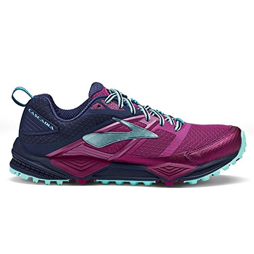 Trail Paradisepink Shoes Women's Running Plum Iceblue Bajablue Cascadia 12 Brooks Clearwater Navy xatO4wx