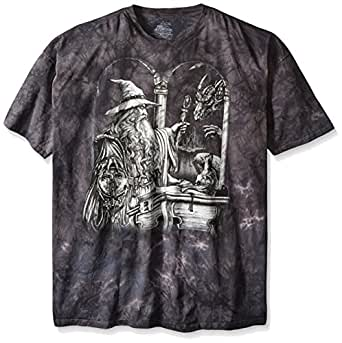 The Mountain Men's Wizard and Dragon T-Shirt, Black, Small