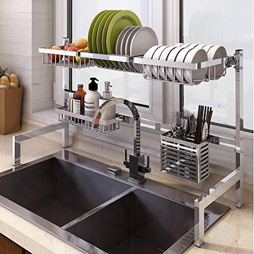 Dish Drying Rack Stainless Steel Kitchen Shelf Organiser Standing