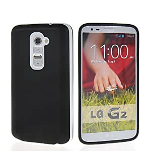 MOONCASE TPU Gel Funda Carcasa Tapa Case Cover Para LG G2 Negro