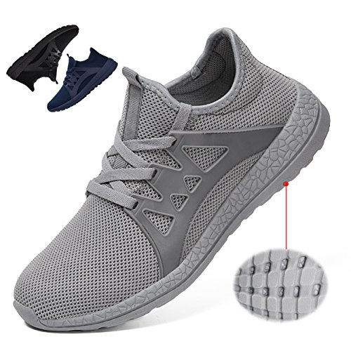 Casual Street Fashion Shoes (KRIMUS Men's Ultra Lightweight Breathable Mesh Street Sport Walking Shoes Casual Sneakers (Grey-44))