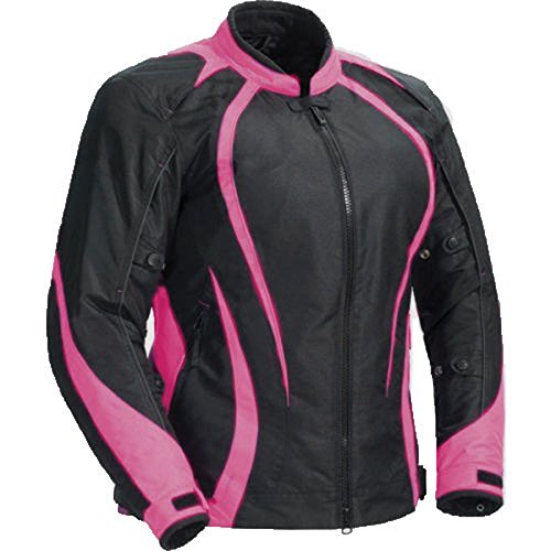 (Juicy Trendz Motorcycle Motorbike Biker Cordura Waterproof Textile Jacket Pink)