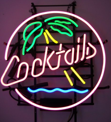 Neonetics 5CPALM Cocktails and Palm Tree Neon Business Sign, 4