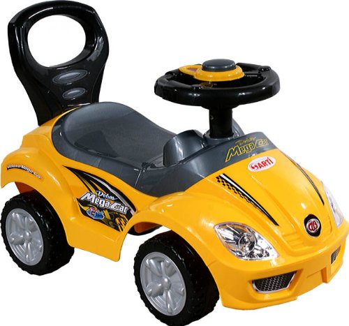 Baby Car - Ride-On - Activity Toy ARTI 381A Mega Car Standard Yellow