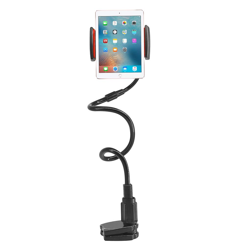 Tablet Mount Stand Gooseneck Multifunction 360 Degree Adjustable Stands Holders for Phone Series/Nintendo Switch/Samsung Galaxy Tabs, 36.64in Overall Length, Black