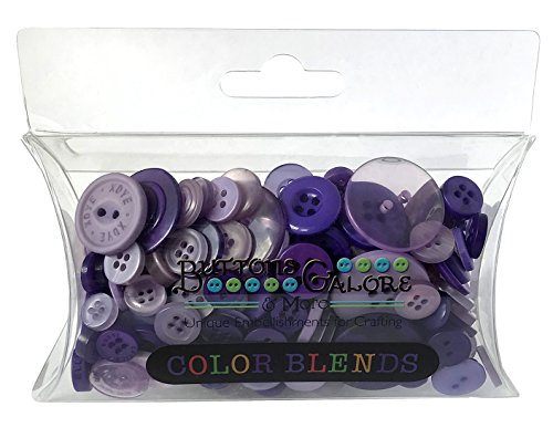 (Buttons Galore CB110 Color Blend Buttons, 3-Ounce, Plum Pudding, 3 Shades of Purple)