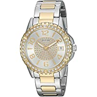 GUESS Women's Stainless Steel Crystal Casual Watch, Color: Silver/Gold-Tone (Model: U0779L4)